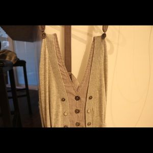BKE Tops - Adorable grey and pinstripe vest